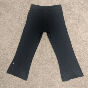 Lululemon Athletica cropped pants with slit